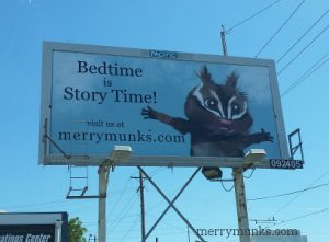The Merry Munks Chipmunks Billboard on N. Weidler St., Portland